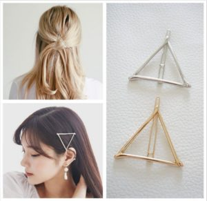 Minimalist Geometric Triangle Hair Clip